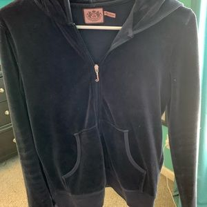 Navy Blue Juicy Couture Velour Jacket